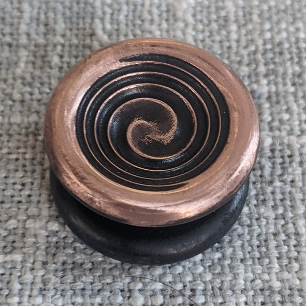 24.1mm Blackened Copper Cupped Swirl Buttons