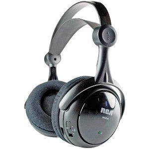 Audiovox RCA WHP141 Wireless Headphone - Wireless Connectivity - Stereo - Over-the-head - Black 40MM 3 CH SELECT