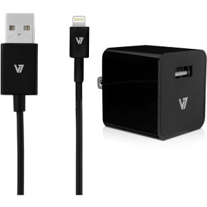 V7 12W USB Wall Charger with Lightning Cable - Cadence Exchange