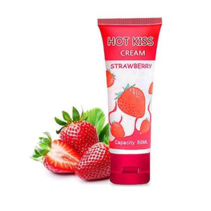 Hot Kiss Edible Water Based Lubricant 100ml - Strawberry Flavour