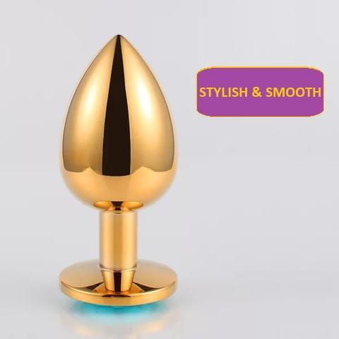 Golden Stainless Steel Butt Plug