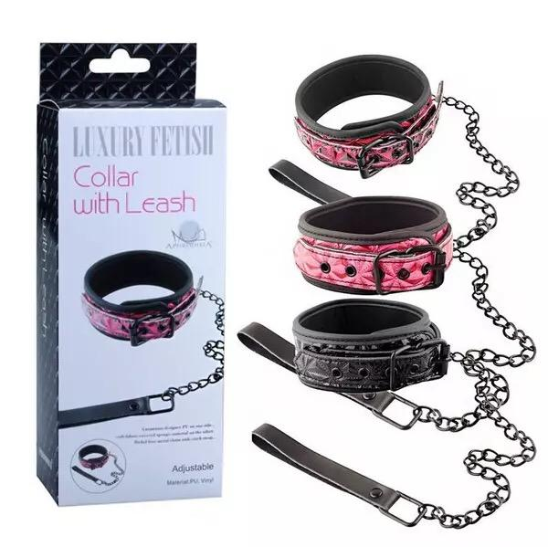 Luxury Fetish Collar with Leash