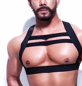 Naughty Male Chest Harness Costume