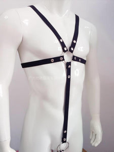 Naughty Men's Leather Body Harness