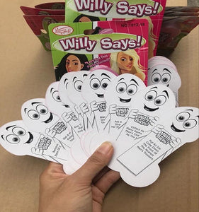 Bride-to-be Willy Says Card Game