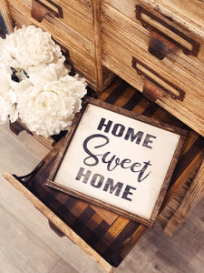 Home Sweet Home Hand Crafted Sign
