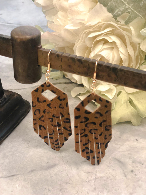 Ash Leopard Earrings