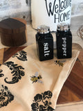 Black Ceramic Salt & Pepper Shakers