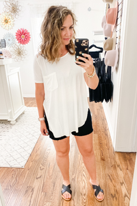 Ivory Lace Shoulder Top