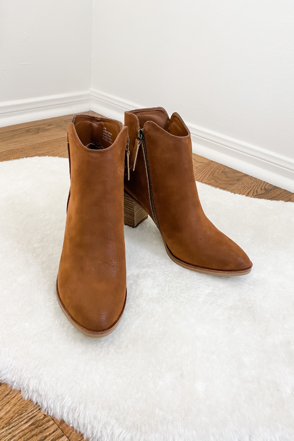Patton Cognac Bootie - Vintage Hope Boutique