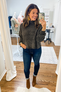 Ash Grey Sweater - Vintage Hope Boutique