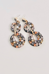 Acrylic Gemstone Earrings- Multi