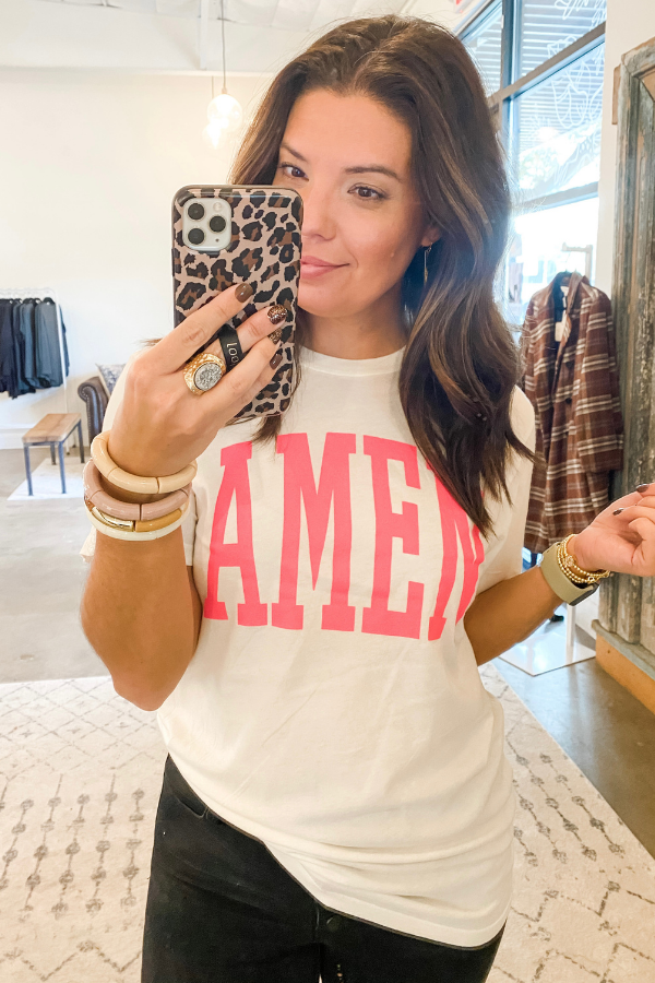 AMEN Tee by The Light Blonde - Vintage Hope Boutique