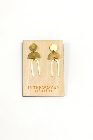 Single Arc Earrings | Interwoven Collective - Vintage Hope Boutique