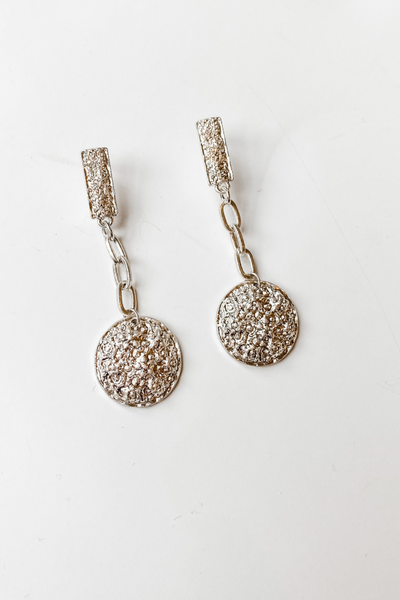 Silver Chain Earrings - Vintage Hope Boutique
