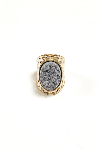Rock On Ring Grey | BB Lila - Vintage Hope Boutique