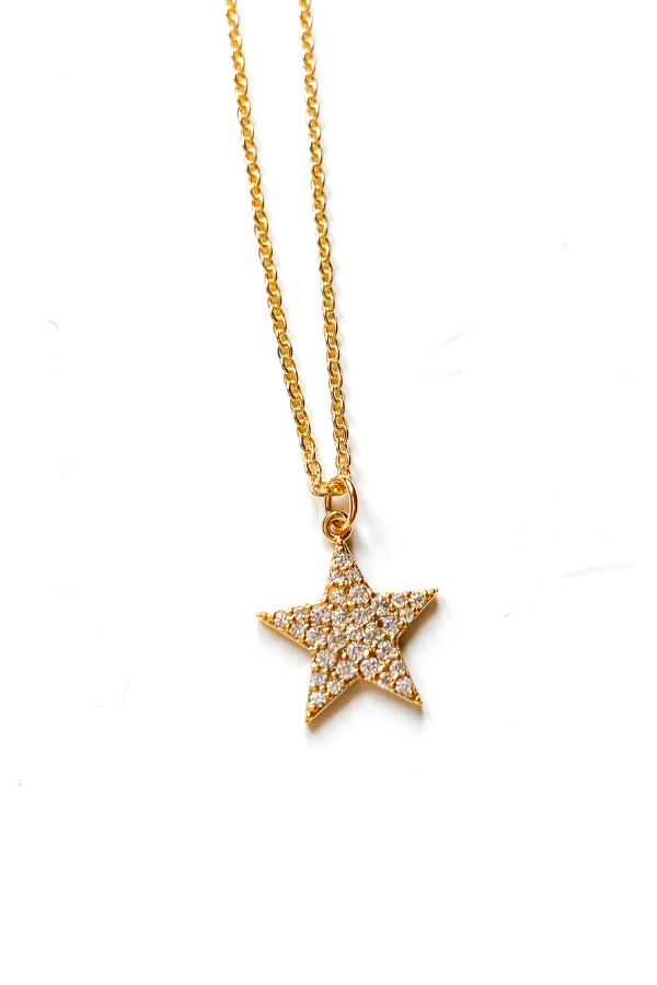 Starboy Pave Necklace/BB Lila - Vintage Hope Boutique