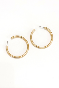 Classic Bright Gold Hoops - Vintage Hope Boutique