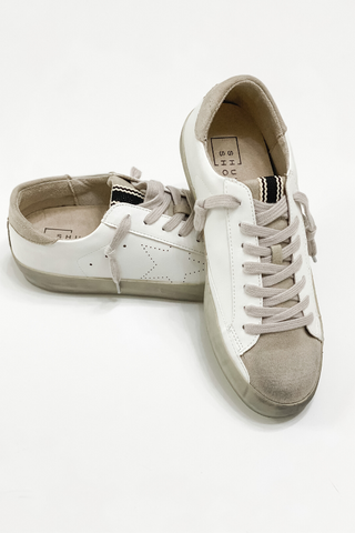 Neutral Star Sneakers - Vintage Hope Boutique