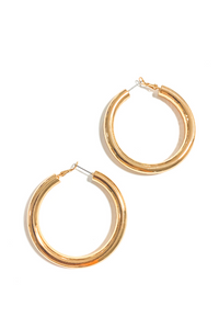 Bright Gold Hoop Earrings - Vintage Hope Boutique