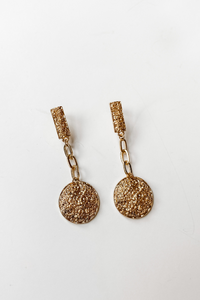 Gold Chain Earrings - Vintage Hope Boutique