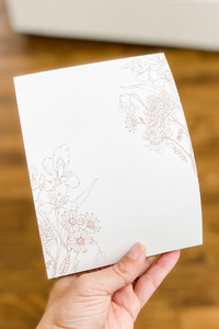 Dash Blossoms Hope Notepad - Vintage Hope Boutique