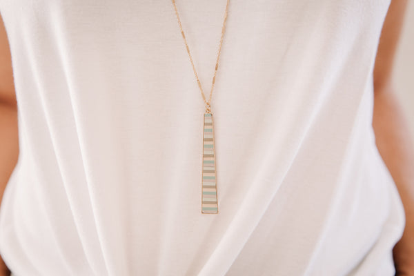Stripe Pendant Necklace