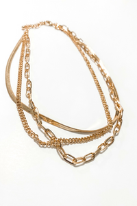 Gold Chain Layering Link Necklace - Vintage Hope Boutique