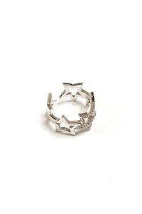 Silver Party Like A Rock Star Adjustable Ring | BB Lila - Vintage Hope Boutique