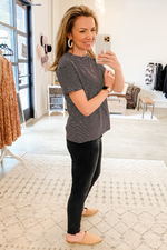 Black & White Crew Neck Top - Vintage Hope Boutique