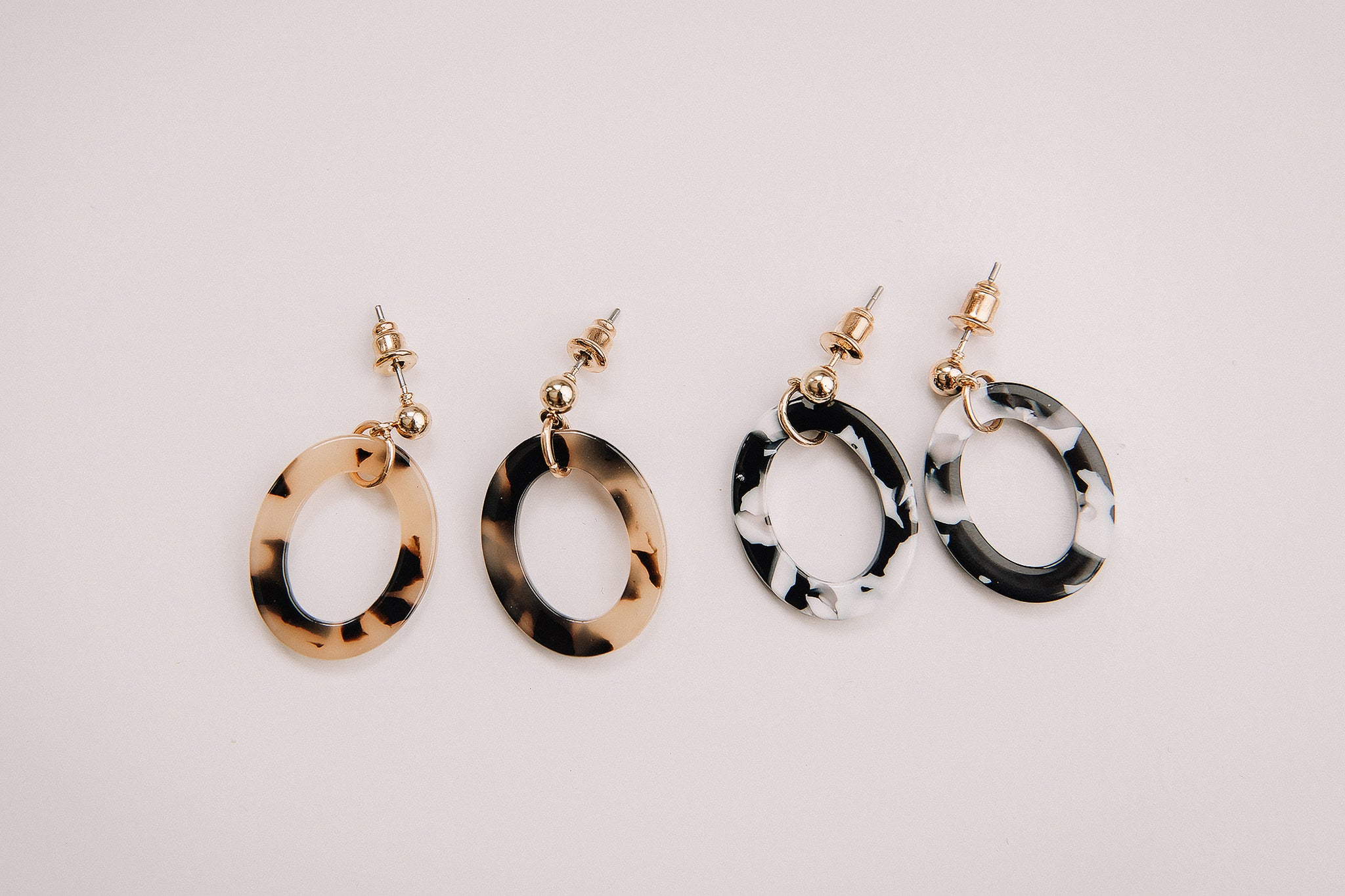 Mini Oval Acrylic Earring