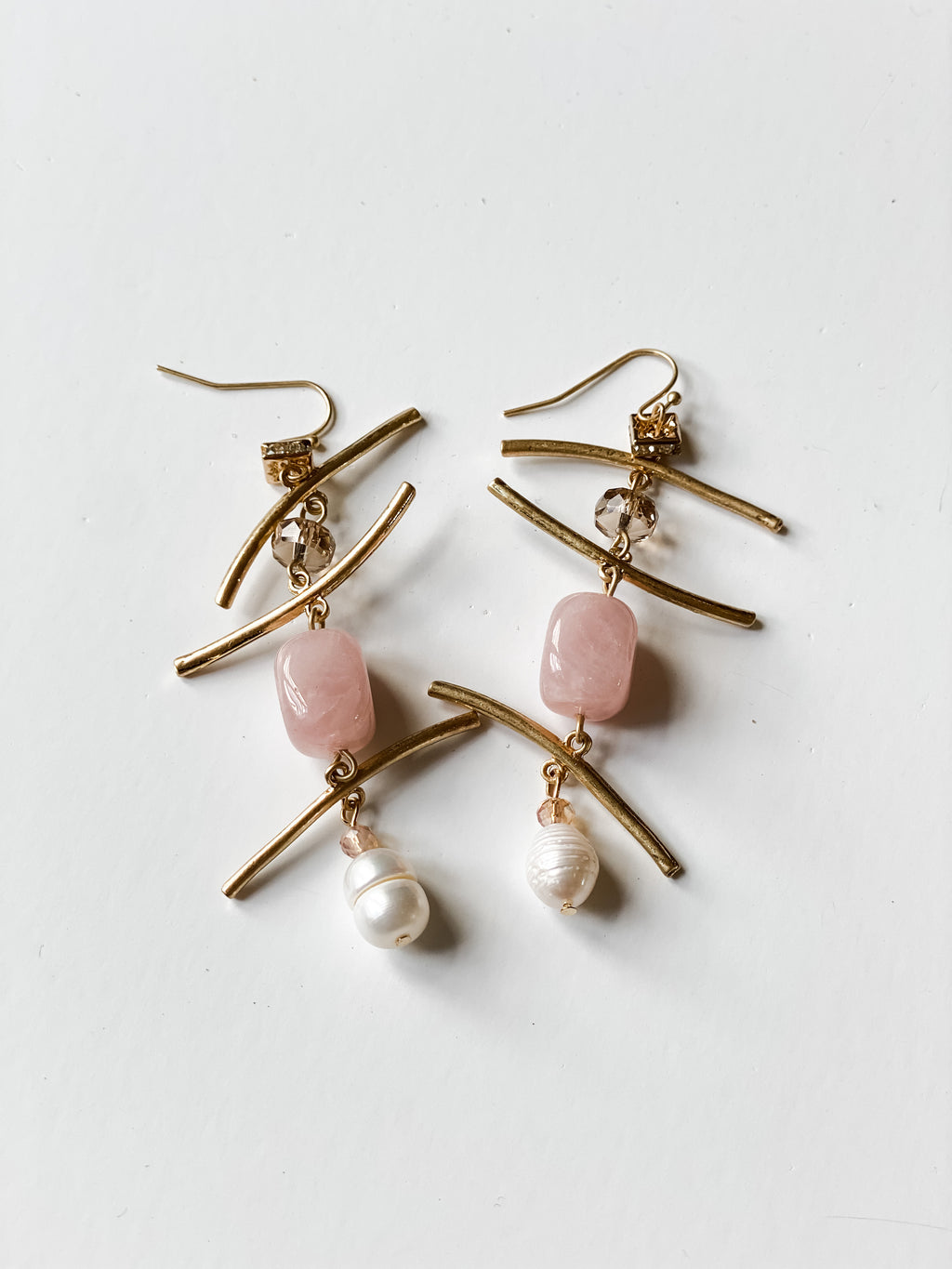 Sticks & Stones Pink Earrings - Vintage Hope Boutique