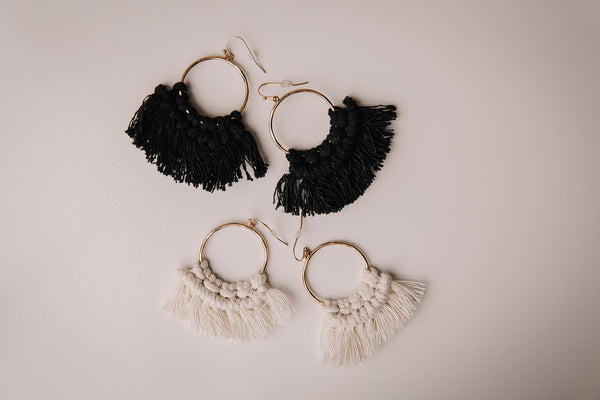 Knotted Tassel Earring