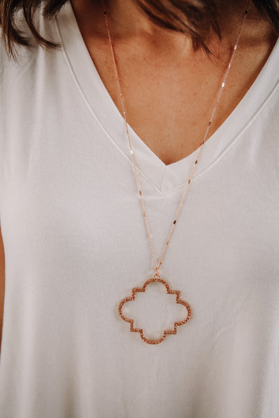 Rose Gold Sparkle Moroccan Necklace