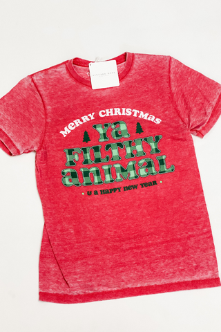 Filthy Animal Christmas Tee - Vintage Hope Boutique