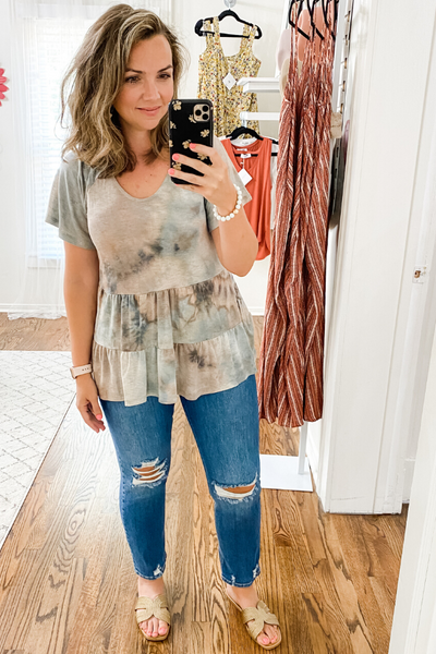 Tiered Tie Dye Top - Vintage Hope Boutique