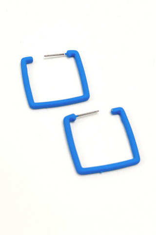 Blue Retro Square Earring - Vintage Hope Boutique
