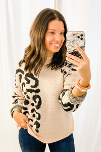 Blush Leopard Sweater - Vintage Hope Boutique