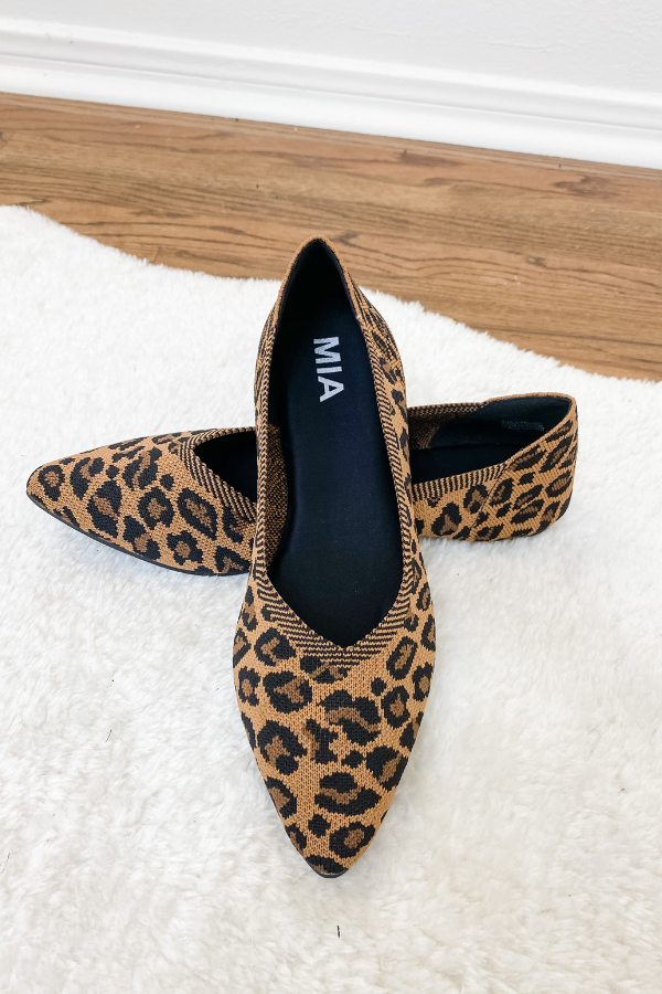 Kerri Leopard Flat - Vintage Hope Boutique