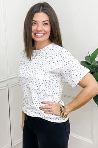 White Dot Top - Vintage Hope Boutique