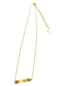 BB Lila Walk the Line Flat Bar Necklace - Vintage Hope Boutique