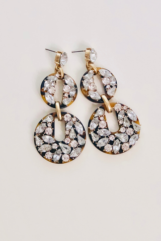 Acrylic Gemstone Earrings- Clear