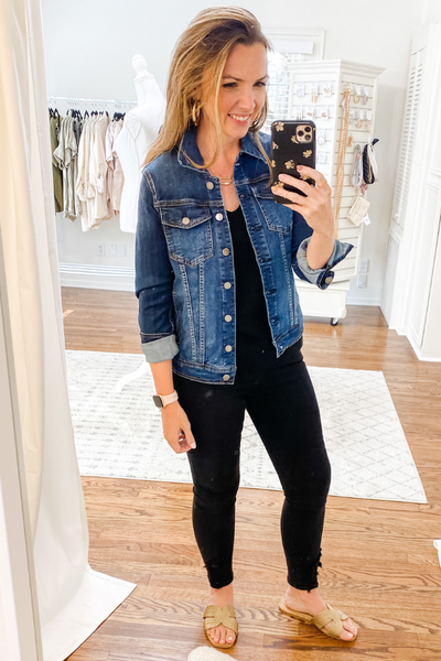 Dark Denim Classic Jacket - Vintage Hope Boutique