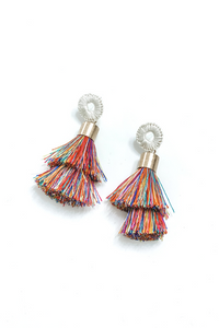 Double Layered Multi Tassel Earring - Vintage Hope Boutique
