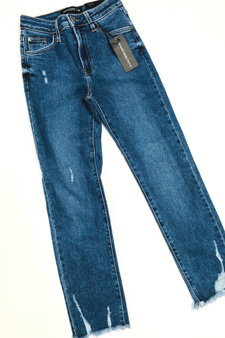Distressed Straight Leg Jean by Just Black Denim - Vintage Hope Boutique