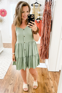 Olive Swing Dress - Vintage Hope Boutique