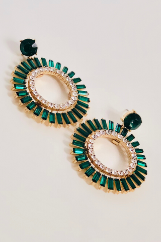 Starry Night Earring- Emerald