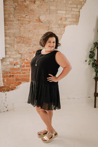 Curvy Ruffled Drop Waist Dress