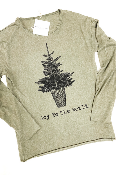 Joy To The World Long Sleeve Tee - Vintage Hope Boutique