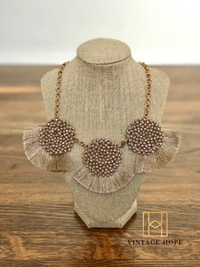 Taupe Statement Necklace